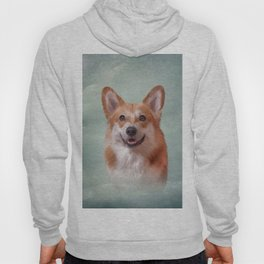 Drawing Dog breed Welsh Corgi portrait Hoody