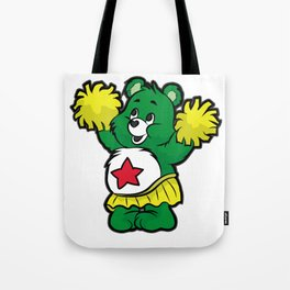 CHEERLEADER TEDDY Pom Pom Cheerleading Dancing Tote Bag