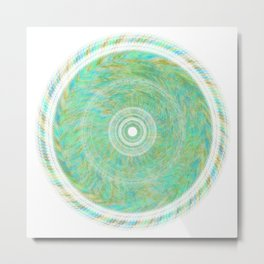 Magnetically Woven Mandala #1 Astronomy Print Science Print Wall Art Metal Print