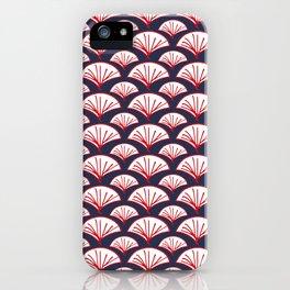 Kabuki Fans White Red Blue iPhone Case