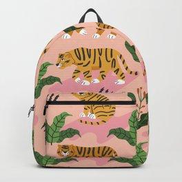 Vintage Tiger Print Backpack