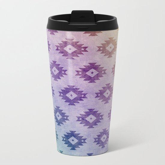 Aztec Pattern 06 Metal Travel Mug