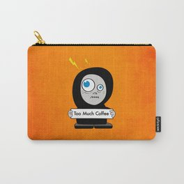 Orange Funny Too Much Coffee Carry-All Pouch