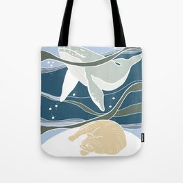 Cat Dream - Whale and Ginger Tote Bag
