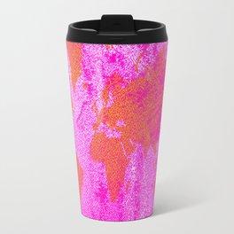 COME WITH ME AROUND THE WORLD (HOT PINK) Travel Mug