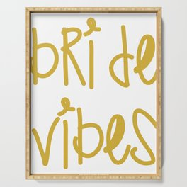 Bride Vibes Bachelorette Party Bridal Shower Gift Serving Tray