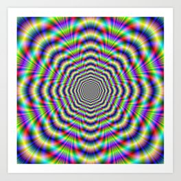 Psychedelic Octagon Pulse Art Print