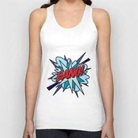 comic book Tank Tops featuring Comic Book BANG! by Thisisnotme