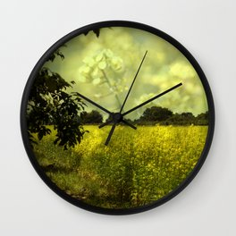 colza field in late summer Wall Clock