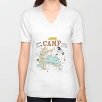 camp V-neck T-shirts featuring camp by AJE Custom Shop