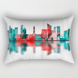 Brisbane Australia Skyline Rectangular Pillow