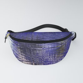 Blue Silver Modern Abstract Pattern Fanny Pack