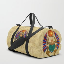 Sarcophagus 3d Egyptian Folk Art Duffle Bag