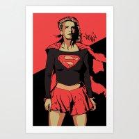 Girl of Steel Art Print