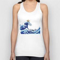 calvin hobbes Tank Tops featuring Surfs up Calvin! by Ancora Imparo