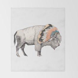 White Bison Throw Blanket