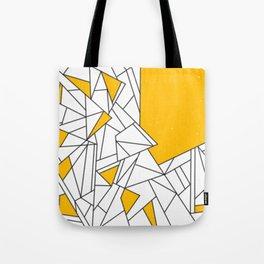 Black and Yellow geometric pattern Tote Bag
