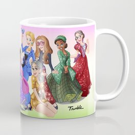 """Ten Real-World Princesses Who Don't Need Disney Glitter"" Trumble Cartoon Coffee Mug"