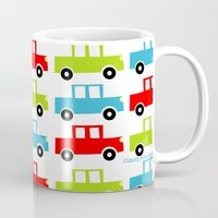 cars Mugs featuring cars by laura mendoza v.
