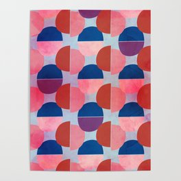 Geometric Abstract Half Round Pattern Poster