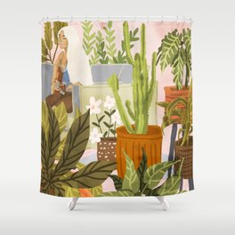 Playing For My Plants Shower Curtain