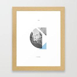 Typographic Posters - Ciutadella Framed Art Print