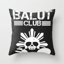 Balut Club Throw Pillow