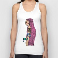 grunge Tank Tops featuring grunge  by MariaBueno