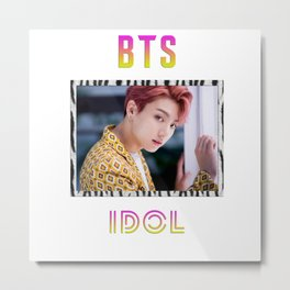 BTS Song IDOL Design - Jungkook Metal Print