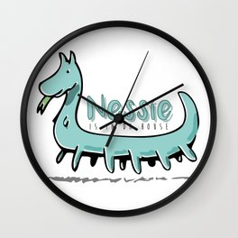 Nessie is in da house Wall Clock