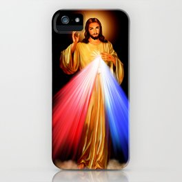Jesus Divine Mercy I trust in you Religion Religious Catholic Christmas Gift iPhone Case