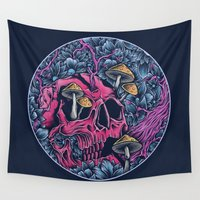 acid Wall Tapestries featuring ACID TRIP by Robin Clarijs