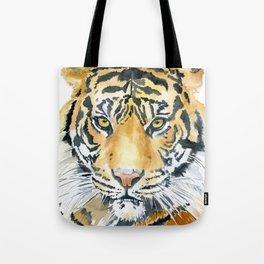 Tiger Watercolor Painting Tote Bag