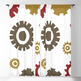 Steam Age Gears Blackout Curtain