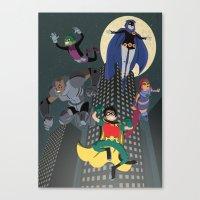 teen titans Canvas Prints featuring Teen Titans by Fuacka