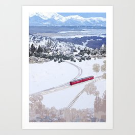 One winter day Art Print
