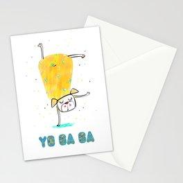Yoga Dog - Morning Stationery Cards