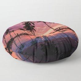 Paradise Sunset Tropical (Color) Floor Pillow