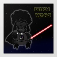 darth Canvas Prints featuring Darth by Afro Pig