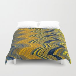 Blue and yellow abstract Duvet Cover