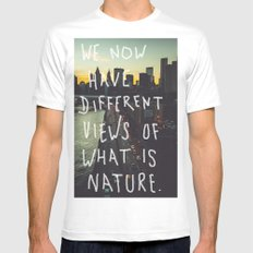 Different Views Mens Fitted Tee White MEDIUM