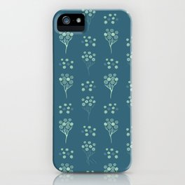 Spring Flower Daisy Bouquet Seamless Pattern iPhone Case