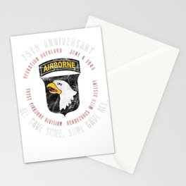 D-Day 75th Anniversary 101st Airborne Div. WWII Vintage Tee Stationery Cards