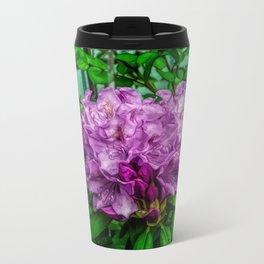 Fine Wine Cafe Light Purple Rhododendron Metal Travel Mug