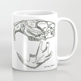 Common Muskrat Skull Coffee Mug