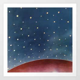 Planet of Stars Art Print