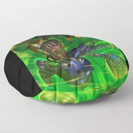 over lucio watch Floor Pillow
