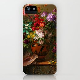 """George Jacobus Johannes van Os """"Still Life with Flowers in a Greek Vase Allegory of Spring"""" iPhone Case"""