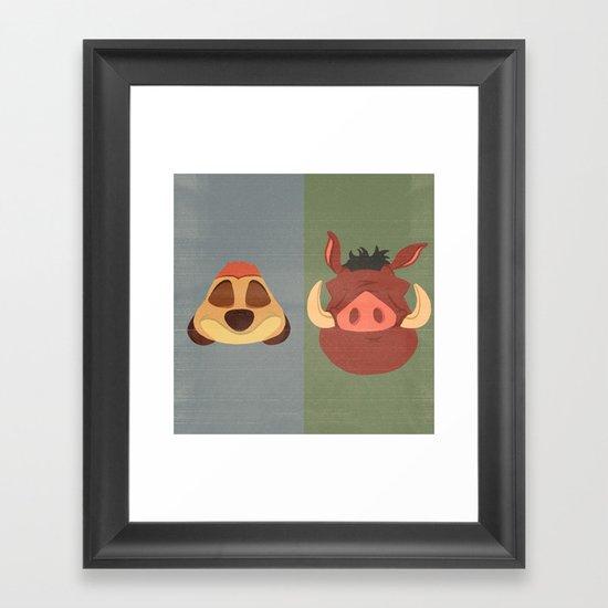 Timon and Pumbaa Framed Art Print