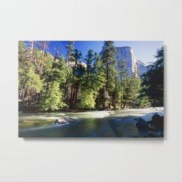 El Capitan with the Merced River Metal Print